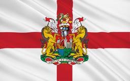 La bandera de Bristol es una ciudad, una autoridad unitaria y un condado, Inglaterra ilustración del vector