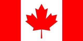 La bandera de Canadá, colores oficiales y proporcióna correctamente Imagen de archivo