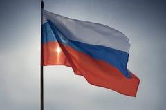 La bandera de la Federación Rusa imagenes de archivo