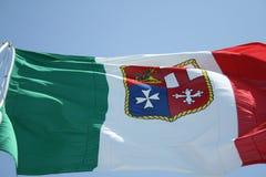 La bandera de la marina de guerra Imagenes de archivo