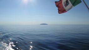 La bandera de la marina de guerra italiana Fotografía de archivo
