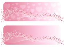 La bandera de la tarjeta del día de San Valentín. Imagen de archivo libre de regalías