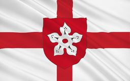 La bandera de Leicester es una ciudad y un área unitaria de la autoridad, Inglaterra ilustración del vector
