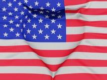 La bandera de los E.E.U.U. que forma un corazón stock de ilustración
