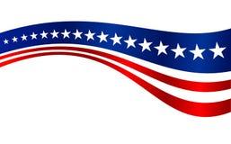 La bandera de los E.E.U.U. raya el fondo del gráfico de vector Fotografía de archivo