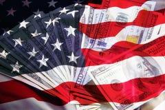La bandera de los Estados Unidos Fotos de archivo libres de regalías