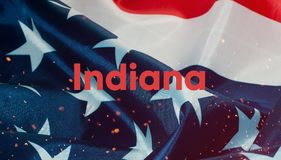 La bandera de los Estados Unidos de América en primer, Fotos de archivo