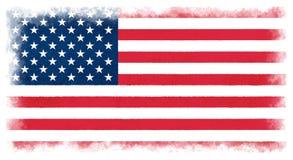 La bandera de los Estados Unidos de Am?rica stock de ilustración