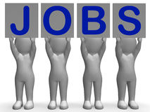 La bandera de los trabajos muestra a Job Recruitment Or Imagen de archivo libre de regalías