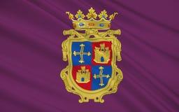 La bandera de Palencia es una ciudad de España septentrional Imagen de archivo