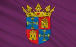 La bandera de Palencia es una ciudad de España septentrional Libre Illustration