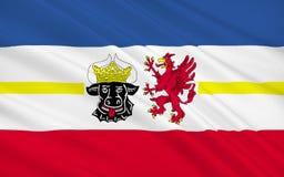 La bandera de Pomerania Mecklenburg-occidental es un estado federado en ningún fotos de archivo