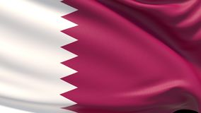 La bandera de Qatar libre illustration