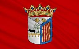 La bandera de Salamanca es la ciudad de España occidental Imagenes de archivo