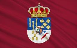 La bandera de Salamanca es una provincia de España occidental Stock de ilustración