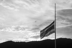 La bandera de Tailandia está de luto Fotos de archivo libres de regalías