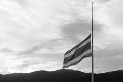 La bandera de Tailandia está de luto Foto de archivo libre de regalías