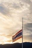 La bandera de Tailandia está de luto Fotos de archivo