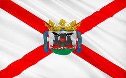 La bandera de Vitoria-Gasteiz es el capital del Autono vasco Libre Illustration