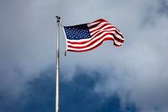 La bandera del americano Imagen de archivo libre de regalías