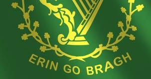 La bandera Erin va viento móvil del bragh