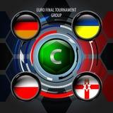 La bandera europea abotona C Imagen de archivo libre de regalías