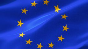 """la bandera europea altamente detallada 4k es un símbolo oficial del organisations†separado dos"""" el Consejo de Europa CoE y el e stock de ilustración"""