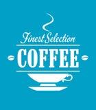 La bandera más fina del café de la selección Imágenes de archivo libres de regalías