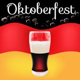 La bandera más oktoberfest del alemán de la cerveza oscura del festival de la impresión libre illustration