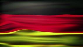 La bandera nacional de Alemania nombró el 'und Handelsflagge de Bundesflagge', agitando y soplando en la brisa con el sitio para  ilustración del vector