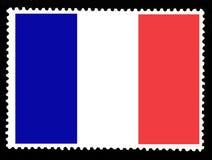 La bandera nacional del ejemplo de Francia Colores y proporción oficiales de bandera de Francia Viejo sello fijado aislado en el  libre illustration