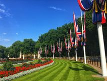La bandera nacional del Reino Unido, Londres imágenes de archivo libres de regalías