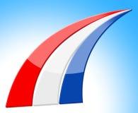 La bandera Países Bajos representa la nación holandesa y al nacional Foto de archivo libre de regalías