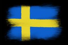 La bandera sueca stock de ilustración