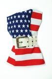 La bandiera americana è stata strangolata Immagine Stock