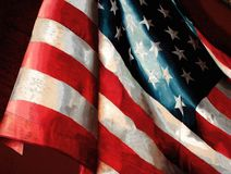 La bandiera americana fotografia stock