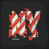La bandiera americana misera segna l'illustrazione con lettere dell'emblema della maglietta Fotografia Stock Libera da Diritti