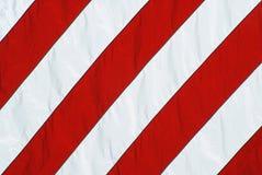 La bandiera americana rossa ed il bianco barra il primo piano Fotografia Stock
