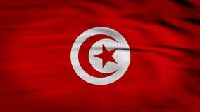 La bandiera 3d della Tunisia rende 4k archivi video