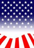 La bandiera degli Stati Uniti d'America, citata spesso come la bandiera americana, è la bandiera nazionale degli Stati Uniti illustrazione di stock