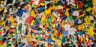 La bandiera del cavallo del vento su una parete Fotografie Stock Libere da Diritti