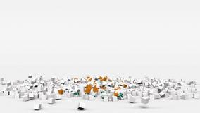 La bandiera del Cipro ha creato dai cubi 3d al rallentatore royalty illustrazione gratis