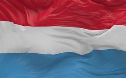 La bandiera del Lussemburgo che ondeggia nel vento 3d rende Fotografia Stock