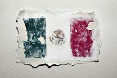 La bandiera del Messico Fotografia Stock