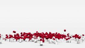 La bandiera del Monaco ha creato dai cubi 3d al rallentatore royalty illustrazione gratis