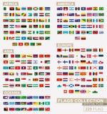 La bandiera del mondo, grande raccolta ha ordinato alfabetico royalty illustrazione gratis