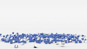 La bandiera del Nicaragua ha creato dai cubi 3d al rallentatore royalty illustrazione gratis