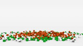 La bandiera del Niger ha creato dai cubi 3d al rallentatore illustrazione di stock