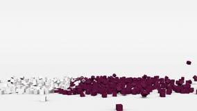 La bandiera del Qatar ha creato dai cubi 3d al rallentatore illustrazione di stock