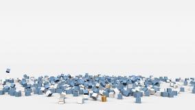 La bandiera dell'Argentina ha creato dai cubi 3d al rallentatore illustrazione di stock
